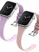 cheap -compatible with apple watch bands 38mm 40mm 42mm 44mm for women men,  soft silicone narrow slim replacement sport wristbands for iwatch series 6 5 4 3 2 1 se (42mm 44mm, small lavender pink)