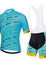 cheap -Men's Short Sleeve Cycling Jersey Cycling Jersey with Bib Shorts Cycling Jersey with Shorts Black Blue Black / White Stripes Bike Breathable Quick Dry Sports Stripes Mountain Bike MTB Road Bike