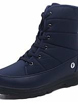 cheap -women`s winter snow boots waterproof outdoor mid calf boots warm fur platform shoes blue