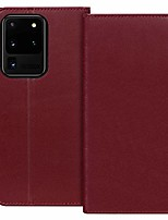 "cheap -case for samsung galaxy s20 ultra 5g 6.9""luxury [cowhide genuine leather][rfid blocking] wallet handmade flip folio case with [kickstand function]and[card slots] for galaxy s20 ultra 6.9"" wine red"