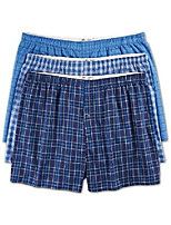 cheap -by dxl big and tall 3-pack plaid woven boxers, blue, 5xl