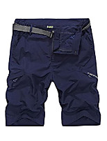 cheap -men's quick dry convertible shorts walking outdoor hiking sports pants#6615,-navy blue-xl(uk m
