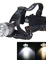 cheap -cree xm-l t6 2-led rechargeable headlamp headlight light lamp outdoor camping hiking with charger (km-p03)