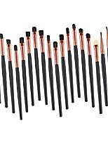 cheap -20 pcs makeup brushes lip cosmetics set eyeshadow eyeliner kabuki tool kit - black gold, 16 x 12 x 0.5cm