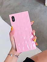 cheap -iphone xs max square phone case for girls, 3d cute candy color sparkly bling diamond lattice,corner reinforced slim soft tpu shockproof cover for apple iphone xs max(pink)