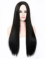 cheap -black wigs 26'' long straight wig women's celebrity party wig synthetic halloween cosplay wig average size