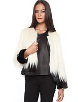 cheap -Long Sleeve Coats / Jackets Faux Fur Party / Evening / Office / Career Bolero With Split Joint / Fur