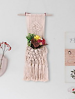 cheap -Hand Woven Macrame Tapestry Plant Hanger Holder Bohemian Boho Wall Hanging Ornament Art Decor Home Bedroom Living Room Decoration Nordic Handmade Tassel Cotton