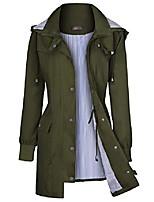 cheap -women's raincoats windbreaker rain jacket waterproof lightweight outdoor hooded trench coats s-xxl (l, navy blue-2)