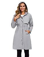 cheap -womens hooded raincoat waterproof lightweight rain jacket outdoor hiking long windbreaker