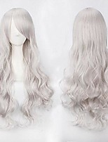 cheap -womens curly lolita cosplay wigs costume wig halloween party wig (silver)