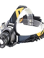 cheap -zoomable 3 modes 1200 lumens t6 led headlamp with rechargeable batteries and wall charger for biking camping hunting running