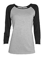 cheap -women's 3/4 sleeve raglan tear away tee, ath/blck, s
