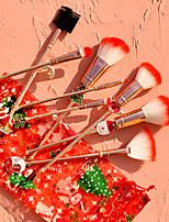cheap -Christmas Gift Elk Makeup Brush 8 Pcs Makeup Brush Set Metal Handle Beautiful Girl Full Set Of Makeup Brush Tool
