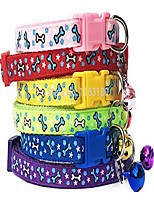 cheap -nylon dog collar scotty dog puppy x-small small jack pug pom chihuahua tiny cute fashion (blue bone)