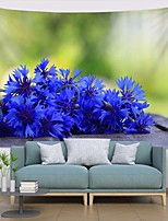 cheap -Wall Tapestry Art Decor Blanket Curtain Picnic Tablecloth Hanging Home Bedroom Living Room Dorm Decoration Polyester Plant Modern Blue Flower
