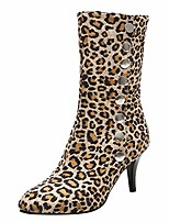cheap -women's button leopard shoes clearance sale, ndgda high-heeled short plush boots