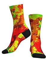 cheap -Socks Cycling Socks Men's Women's Bike / Cycling Breathable Soft Comfortable 1 Pair Skull Cotton Orange S M L / Stretchy