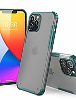 cheap -compatible with iphone 12 case/ 12 pro case - phone armor - matte translucent - shockproof - slim - hybrid materials - wireless charging - designed for iphone 12 & 12 pro (6.1 inch) - green