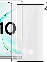 cheap -[2 pack] galaxy note 10 tempered glass screen protector [fingerprint sensor compatible] [full coverage] [3d glass] [case friendly] anti-scratch for samsung galaxy note 10
