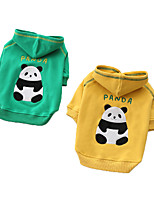 cheap -Dog Coat Hoodie Panda Basic Cute Casual / Daily Winter Dog Clothes Puppy Clothes Dog Outfits Breathable Yellow Green Costume for Girl and Boy Dog Cotton S M L XL XXL 3XL