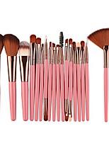 cheap -beauty tools, 18 pcs professional kabuki makeup brush set for eyeshadow foundation blush powder liquid cream blending