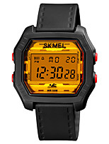 cheap -SKMEI Men's Sport Watch Digital Modern Style Stylish Outdoor Water Resistant / Waterproof Digital White+Golden White Black / One Year / Silicone