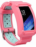 cheap -wonlex band for samsung gear fit2 / fit2 pro, silicone replacement watch bands strap compatible with galaxy gear fit2 sm-r360 & fit 2 pro for women & men (pink/teal)