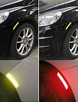 cheap -4pcs Car Wheel Rim Eyebrow Reflective Warning Strip Stickers Safety Warning Light Reflector Protective Sticker JY-101