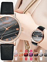 cheap -Women's Quartz Watches Quartz Stylish Luxury Casual Watch Analog White Black Red / PU Leather