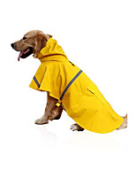 cheap -dog raincoat with hood,waterproof ultra-light breathable pet rainwear dog rain poncho jacket with safe reflective strips for small medium large dog (l)