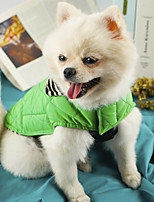 cheap -Dog Cat Coat Jacket Solid Colored Simple Style Casual / Daily Winter Dog Clothes Puppy Clothes Dog Outfits Breathable Black Costume for Girl and Boy Dog Nylon Cotton XS S M L XL XXL