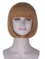 cheap -girl's short straight bob style hair harajuku lolita punk wig anime cosplay costume wig party halloween (yellow)