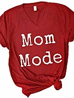 cheap -mom mode shirt – cute graphic tshirt for women – cool v-neck casual tee – printed short sleeve t shirt (cardinal, x-large)