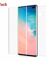 cheap -[2 pack] front + back full cover soft hydrogel film for samsung galaxy s10 screen protector, ultra-thin transparent soft protective film (for galaxy s10)