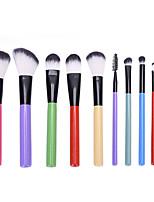 cheap -10 Pcs Makeup Brush Set Cosmetic Makeup Tools Professional Makeup Brush For Beginner
