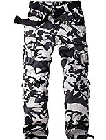 cheap -women's combat camo cargo trousers camouflage army military tactical work pants #2083-black hawk camo-28(uk 10)