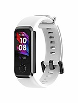 cheap -watch band compatible with huawei honor band 5i/huawei bnad 4, soft silicone adjustable replacement strap fitness wristband bracelet (white)