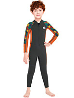 cheap -Dive&Sail Boys' Full Wetsuit 2.5mm SCR Neoprene Diving Suit Windproof Quick Dry Long Sleeve Front Zip Patchwork / Kids