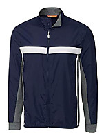 cheap -men's wind resistant swish colorblock mock neck full zip jacket, navy, large