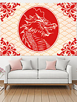 cheap -Chinese Style Wall Tapestry Art Decor Blanket Curtain Picnic Table Cloth Hanging Home Bedroom Living Room Decoration Polyester Dragon Wave Pattern