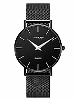 cheap -sinobi ultra thin minimalist geniune leather band stainless steel mens watch unisex wrist watch