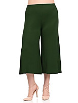 cheap -women's wide leg crop culottes plus size xx-large olive