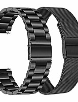 cheap -band sets for galaxy watch 3 45mm,  solid stainless steel metal watchband + mesh loop strap quick release wristband for samsung galaxy watch3 45mm smartwatch