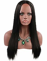 cheap -long black wig straight for ladies fancy dress cosplay stylish party daily wigs smooth girls synthetic black