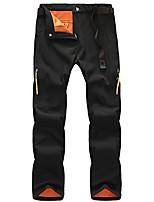 cheap -women's outdoor water-resistant windproof soft shell fleece hiking snow pants black l