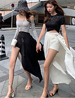 cheap -Women's Streetwear Comfort Daily Going out Shorts Pants Solid Colored Short Pocket White Black