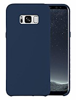 cheap -liquid silicone phone case for samsung galaxy s8 / shockproof/gel rubber/cover case drop protection blue