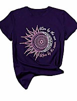 cheap -womens graphic t shirts summer cute cotton moon and sun tee shirts and tees short sleeve casual loose tops (large, purple)