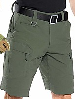 cheap -men's lightweight tactical shorts,stretch outdoor quick dry ripstop cargo fishing hiking shorts with multi pocket 0206 armygreen